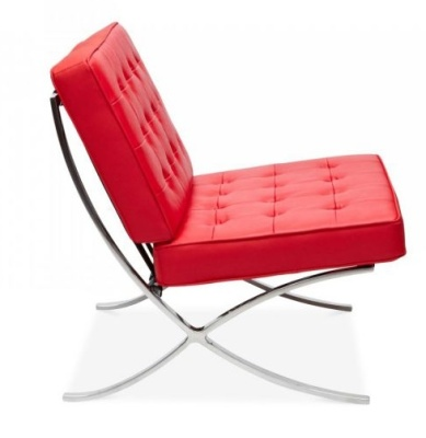 Barceloana Chair In Red Side View