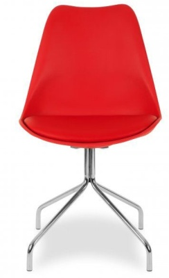 Lacro Poly Chair In Red Facing
