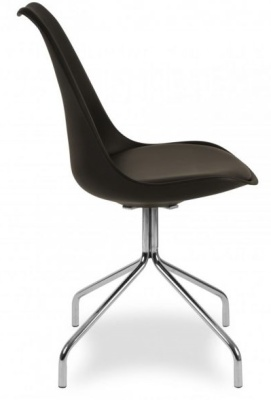 Lacro Poly Chair In Black Side View