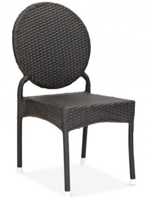 Mina Rattan Side Chair Front Angle View
