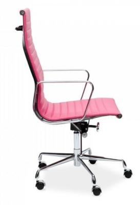 Aria Executive Leather Chair In Pink
