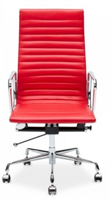 Eames Executive High Back Chair In Red