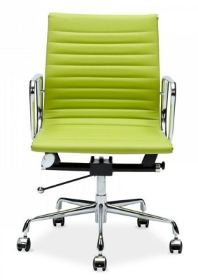 Aria Executiouve Mid Back Chair Lime Green