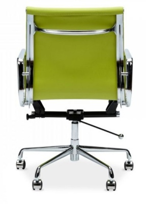 Eames Style Executive Ribbed Chair In Lime Green