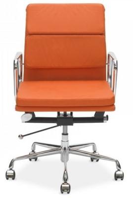 Eames Soft Pad Mid Back Orange Leather