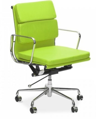 Eames Lime Green Front Angle Mid Back