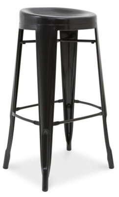 Xavier Pauchard Stool With A Round Seat And Black Finish