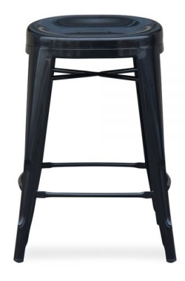 Xavier Pauchard Low Stool With A Round Seat In Black