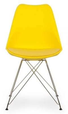 Eames Inspired Di9ning Chair With A Padded Seat And Eiffel Legs