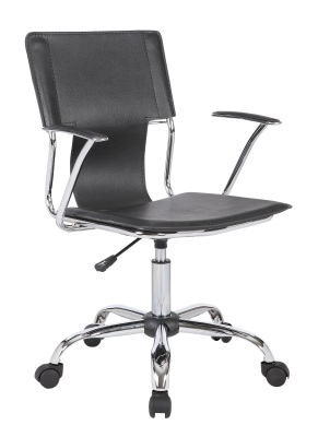 Allure Studio Chair Black Leather Fron Tange