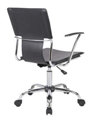 Allure Black Leather Studio Chair Rear Angle