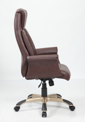 Roberto Brown Leather Executive Chair Side View