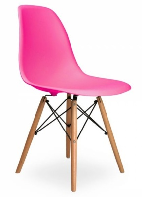 DSW Chair In Lipstick Pink Front Angle