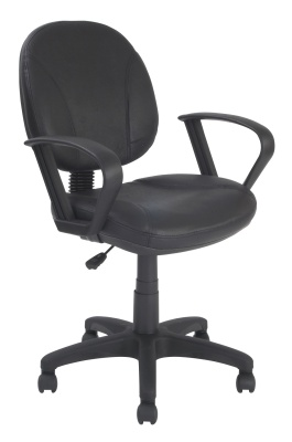 Tonio Black Leather Operators Chair Front