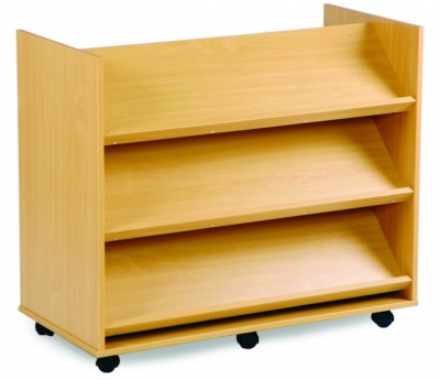 Mobile Book Storage Trolley