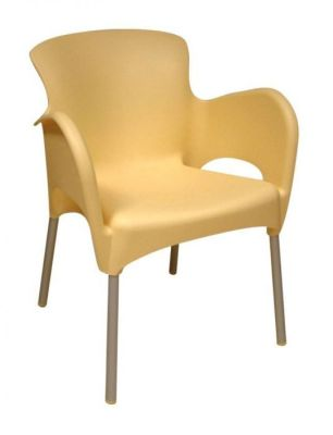 Titan Yellow Plastic Commercial Chair