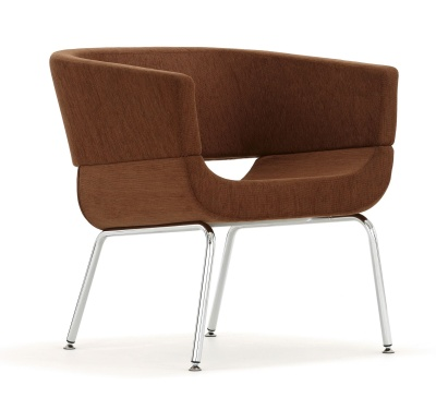 Lola Designer Tub Chair Four Legs Front Angle