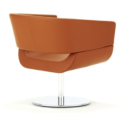 Lola Designer Tub Chair With A Circular Base Rear Shot