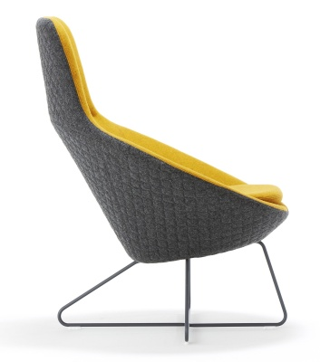 Conic Lounge Chair With Headrest Side View