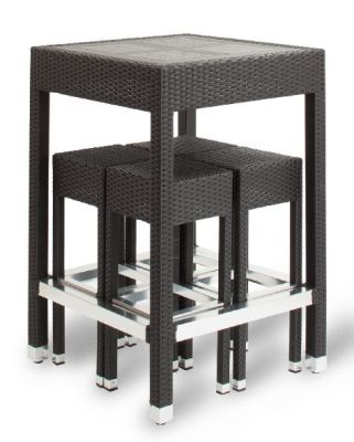 Susie Outdoor Weave Bar Height Set