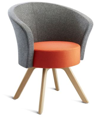 Bobo Tub Chair With Wooden Legs Front Angle