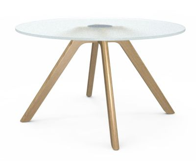Bobo Glass Coffee Table With Oak Legs 2
