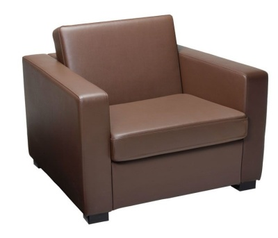 Newbury Faux Leather Single Sofa