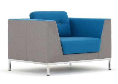 Octo Single Seater Sofa Front Angle