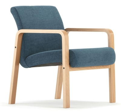 Como Chair With Arms Front Angle