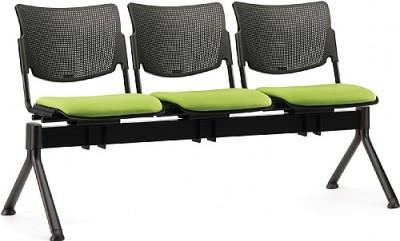 Mia Three Seater Beam Upholstered Seat