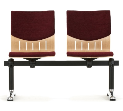 Isis Two Seater Beam With Upholstered Seat And Back