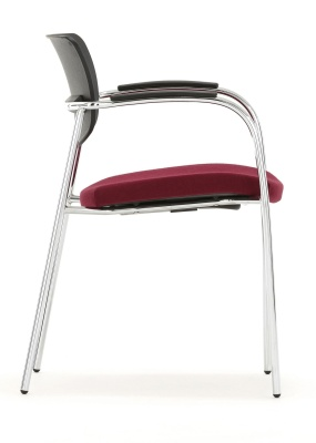 Contour Fully Hupholstered Chair With Arms Side Shot