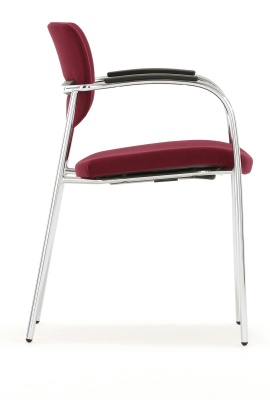Contour Conference Chair With Full Arms Side Shot