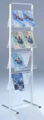 Transview Transparent Double Sided Leaflet Dispenser With White Coated Aluminium Frame
