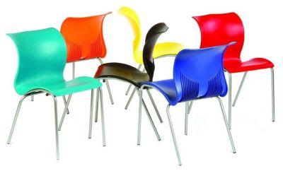 Bolero Multipurpose Designer Polypropylene Chairs In A Range Of Striking Colours