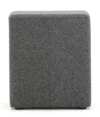 Brick Upholstered Cube