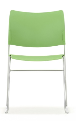 Elios Chair In Green Fro0nt Facing