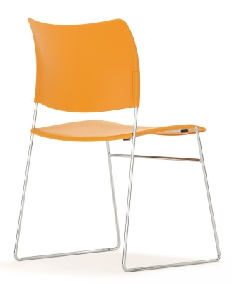 Elios Chair In Orange Rear Angle
