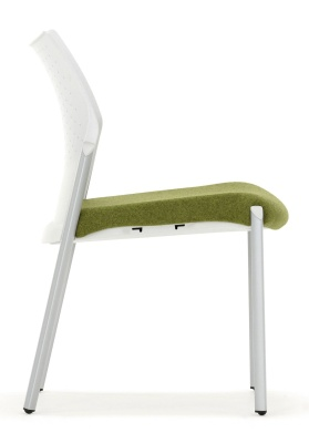 Trillipse Chair Silver Frame And Green Seat Side View