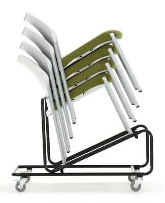 Trillpse Chairs Stacked Ona Dolly