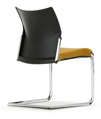 Trillipse Chair Gwith A Chrome Cantilever Frame Rear Angle Shot