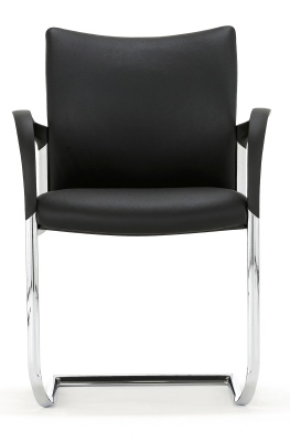 Trillipse Chair With A Cantilver Frame And Arms Face Shot