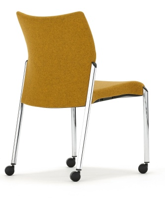 Trillipse Mobile Conference Chair Fully Upholstered Rear Angle Shot