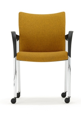Trillipse Fully Upholstered Mobile Conference Arm Chair Front View