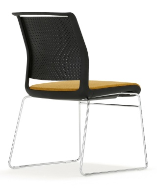 Adlib Chair Rear Angle Black Shell
