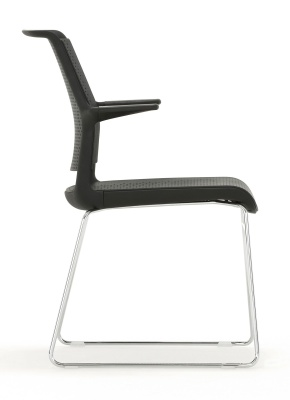 Ad Lib Designer Conference Chair With Arms Side View