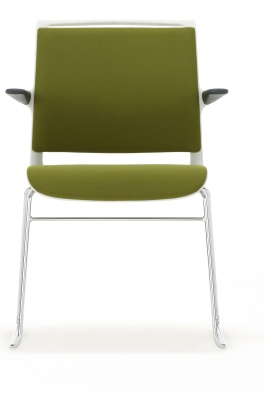 Ad Lib Chair Fully Upholstered With A Light Grey Shell Front Face
