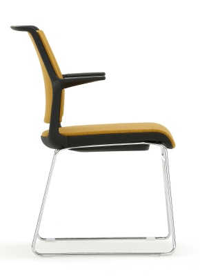Ad Lib Chair With Arms Shown From The Side