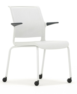 Ad Lib Mobile Arm Chair Front Angle View
