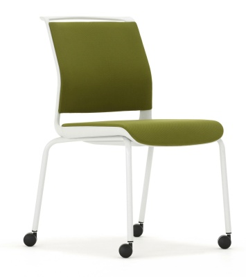 Ad Lib Fully Upholstered Chair Fron Angle Light Grey Frame